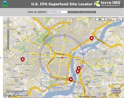 Epa Superfund Site Locator Another Google Maps Mashup